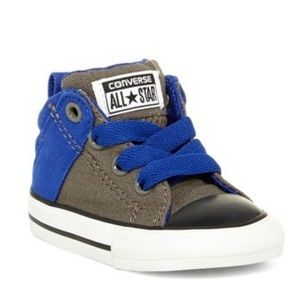 Converse Mid Charcoal Baby Sneaker, sz 2